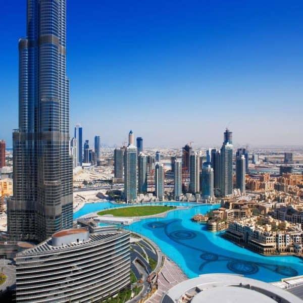 Вид на Дубай с высоты