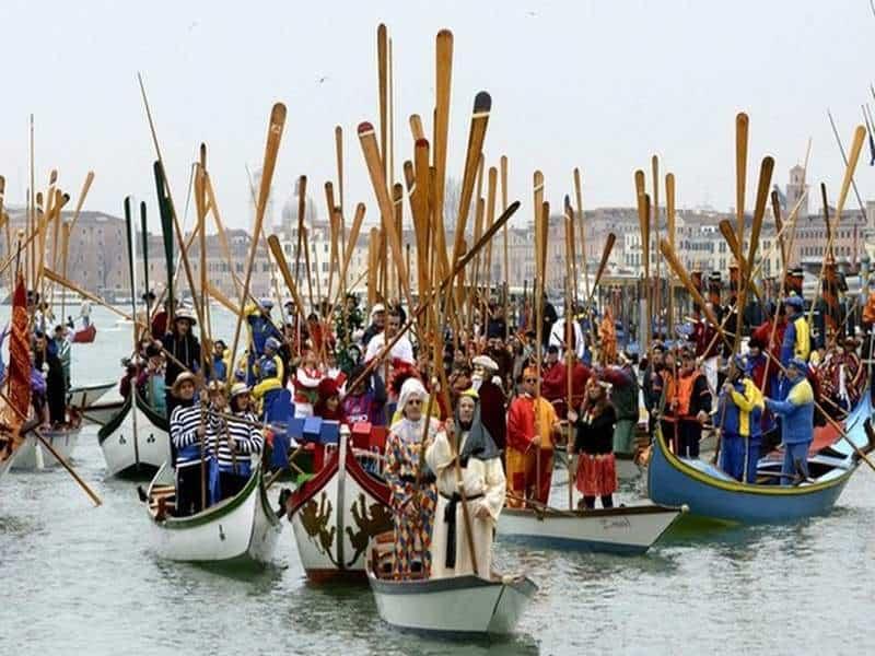 Карнавал, Венеция, гондолы