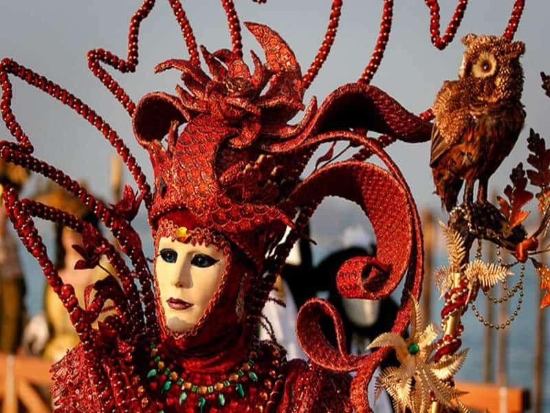 Карнавал, Венеция, красивая маска