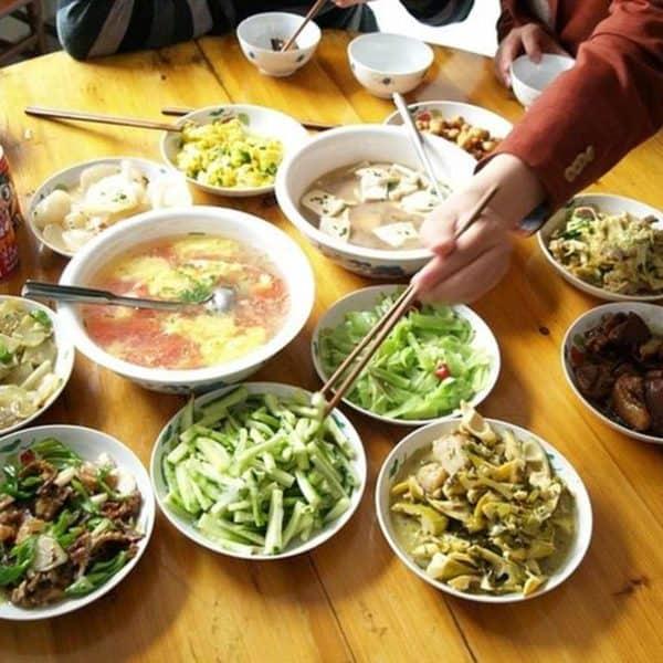 Китайская еда В китайском ресторане