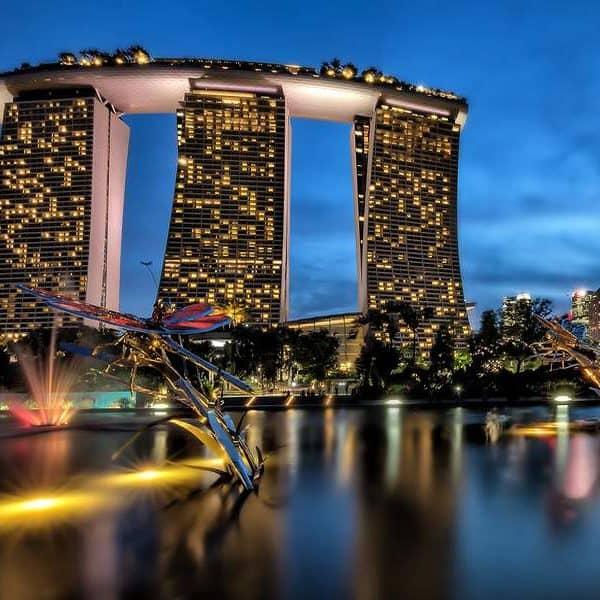 Красивый город Сингапур