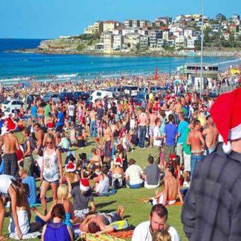 Пляжи Австралии в Рождество