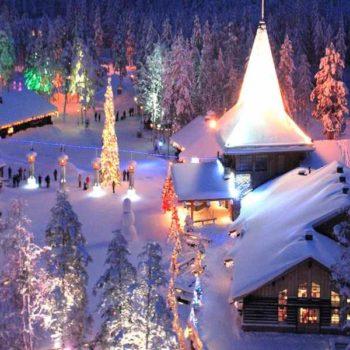 Рождественский пейзаж в Финляндии