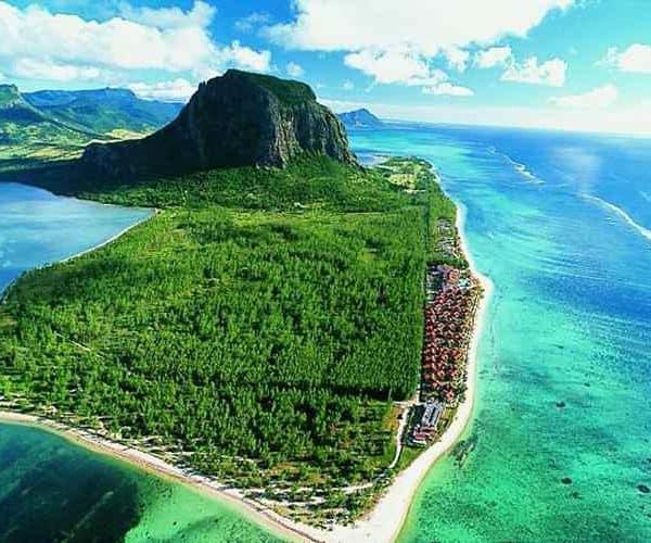 Остров Маврикий с высоты