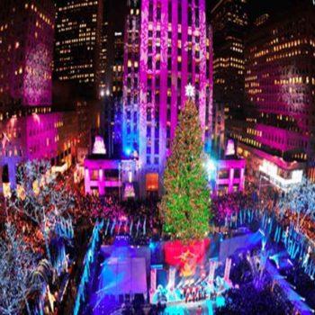 Панорама Рокфеллер Центра в Рождество