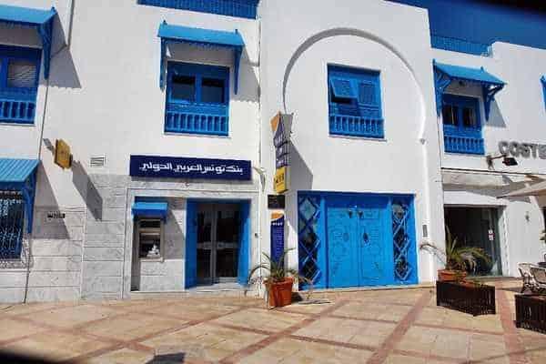 Стены города Сиди-бу-Саид окрашены белым, а ворота, окна и двери - голубым.