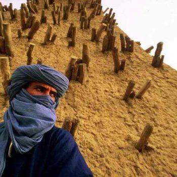 Туарег в синей одежде