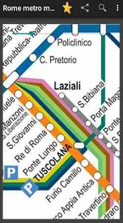 Приложение метро Рима