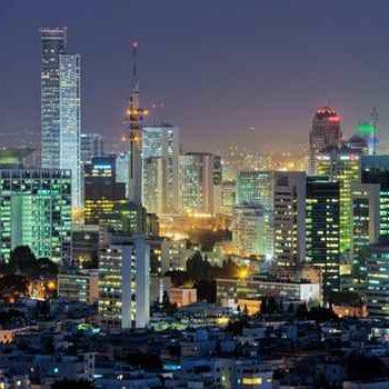 Вид на ночной Тель-Авив