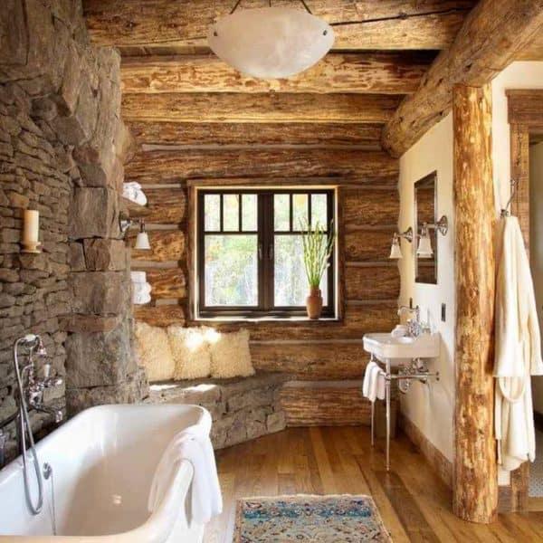 Стиль кантри и ванная