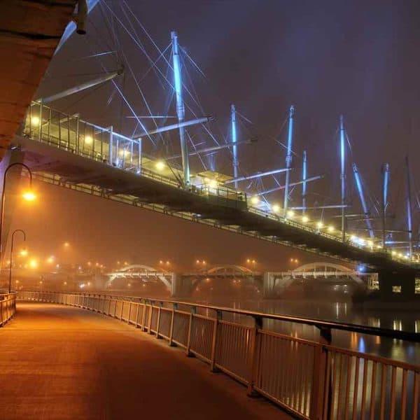 Мост Курилпа, Брисбен ночью