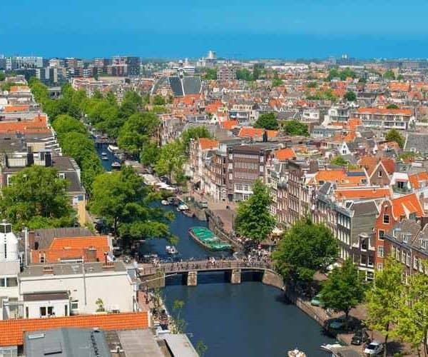 Амстердам вид сверху
