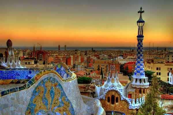 Барселона закат
