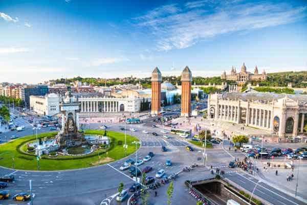 Площадь в Барселоне