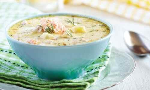Финский суп с молоком