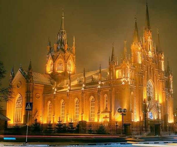 Кафедральный собор, Барселона ночью