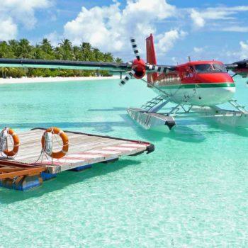 Мальдивы и самолет
