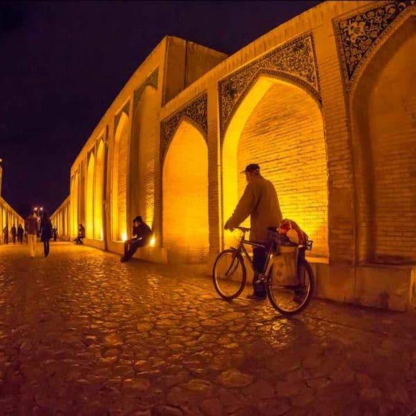 Мост Исфахан ночь