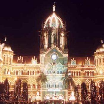 Мумбаи дворец ночью