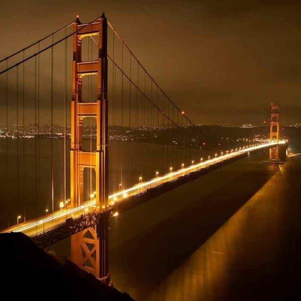 Золотые ворота Сан-Франциско ночь