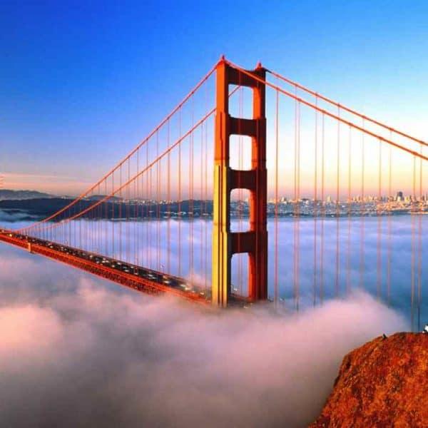 Золотые ворота Сан-Франциско туман