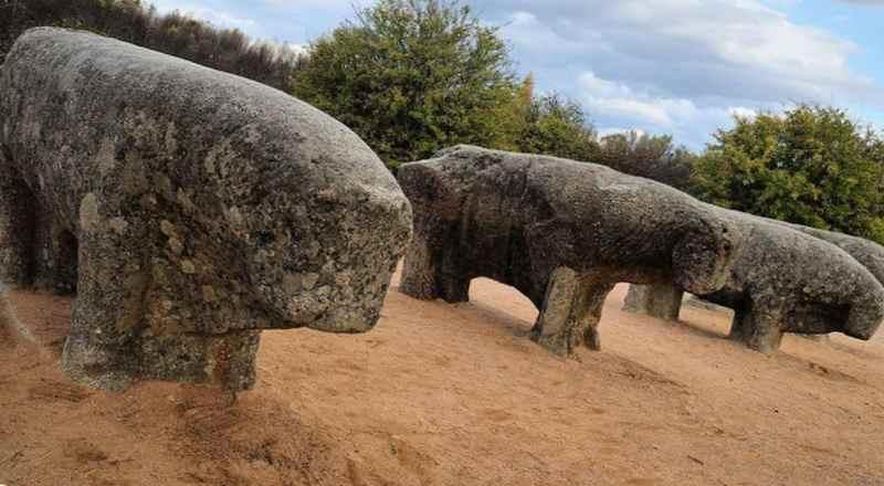 Статуи животных - мегалиты острова Сулавеси