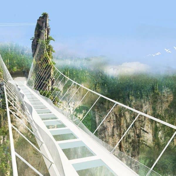 Самый длинный стеклянный мост в мире