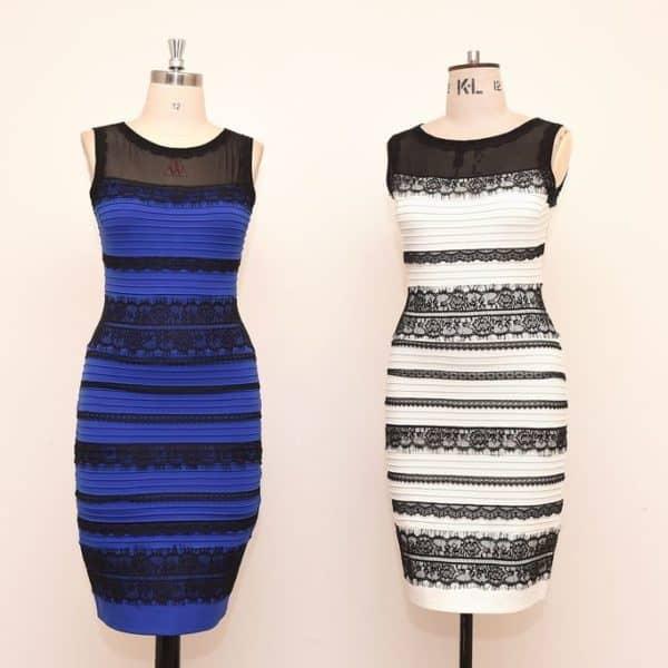 Платье разного цвета