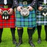 Мужская шотландская юбка
