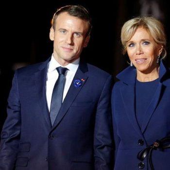 Эммануэль Макрон с женой