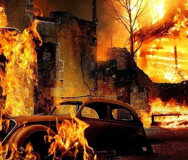 Сильный пожар